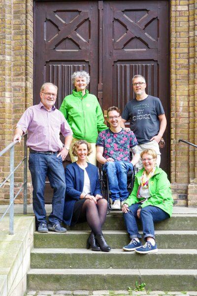 Vorstand: vr Rainer Michaelis, Melanie Vogel (sitzend), Tilde Haase, Dennis Sonne, Lars Reichmann, Anette Mönning