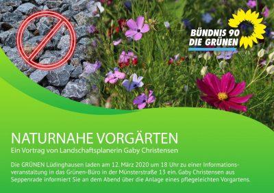 Einladung der GRÜNEN ins LOKAL in der Münsterstraße 13 am Donnerstag, 12.03.2020 um 18 Uhr