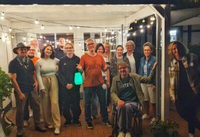 Gruppenbild der GRÜNEN in Lüdinghausen am Wahlabend